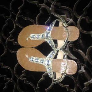 Glitter bling sandals